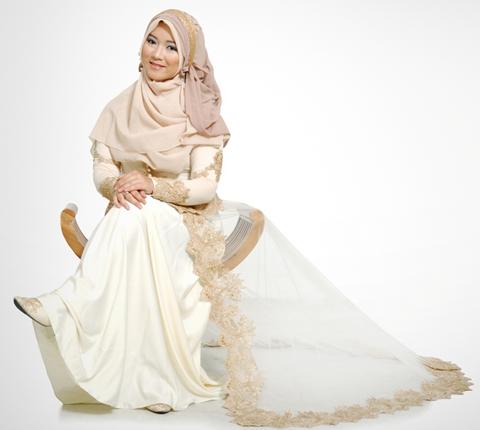 model baju gaun muslimah orang gemuk