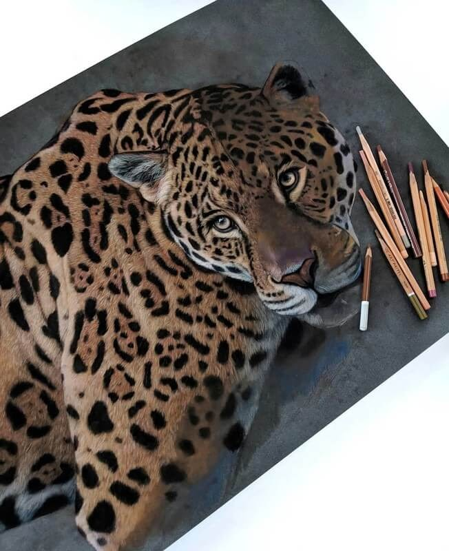 02-Jaguar-Tatjana-Bril-Pastel-Drawings-of-Detailed-Animals-www-designstack-co