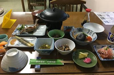 石塚旅館の夕食