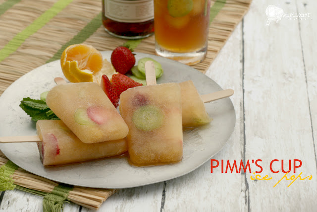 Pimm's Cup Ice Pops