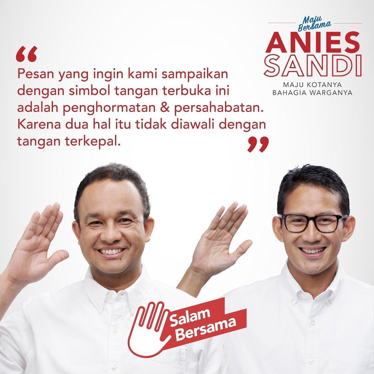 DP BBM Salam Bersama Anies-Sandi