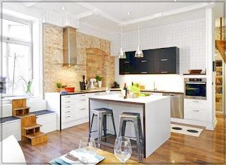 Desain Dapur Rumah Minimalis Tanpa Kitchen Set Sederhana