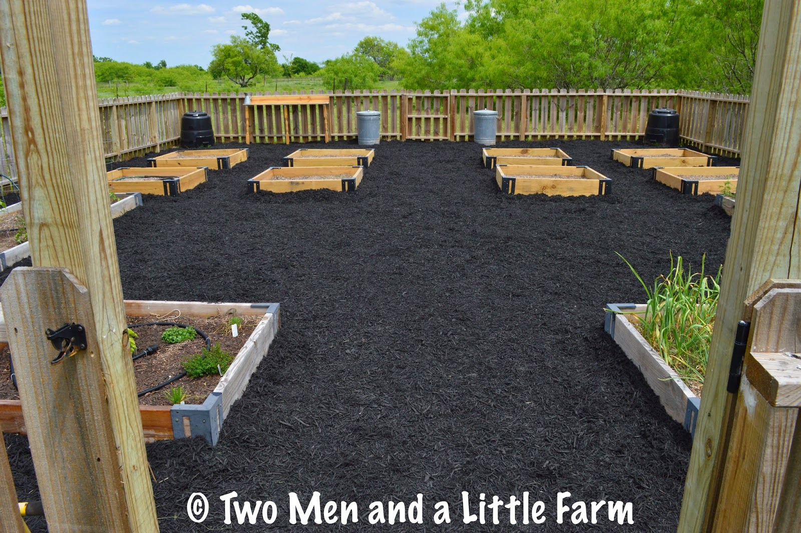 Two Men And A Little Farm Raised Bed Mulch Is Done