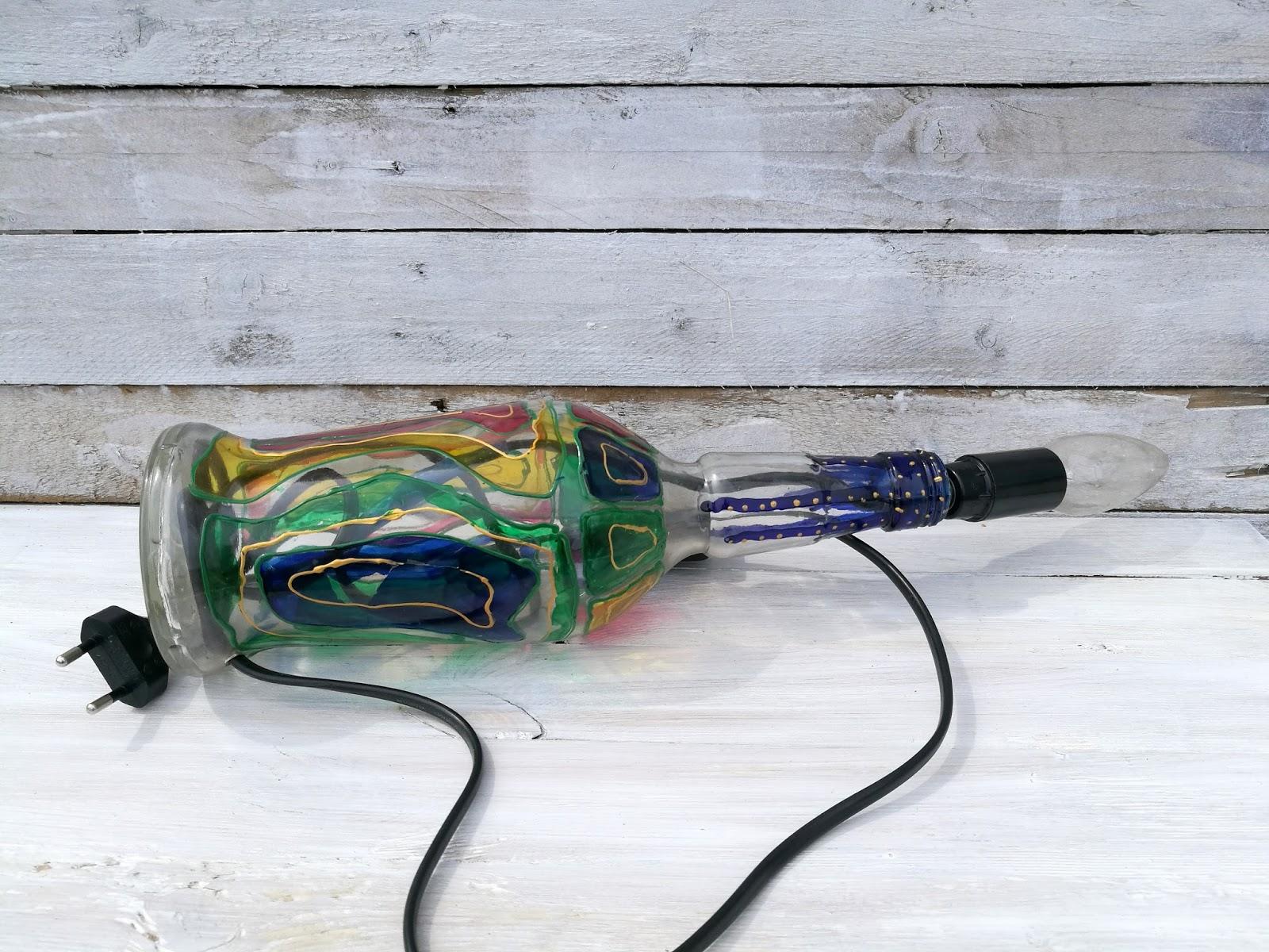 lampka z butelki DIY