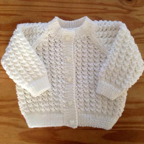 Lacey Baby Cardigan - Free Pattern