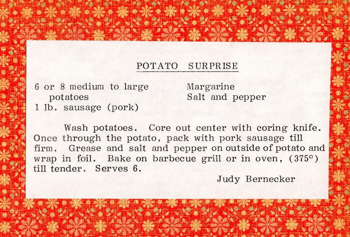 Potato Surprise (quick recipe)