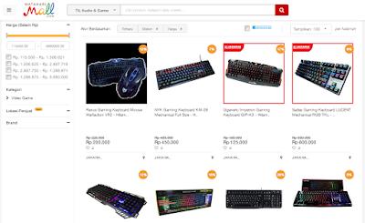 Beraneka ragam mechanical keyboard tersedia di MatahariMall.com