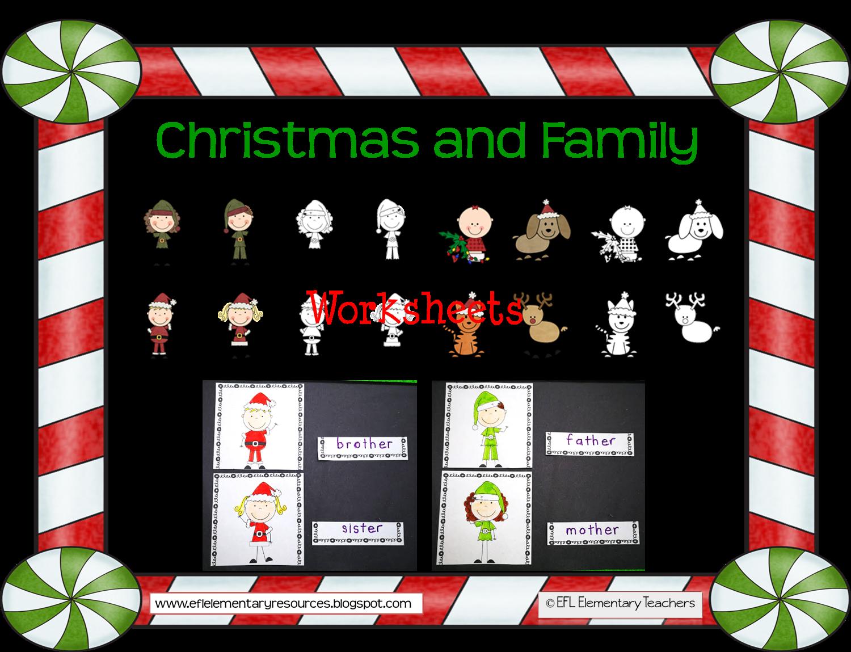 Efl Elementary Teachers Christmas And Family Theme