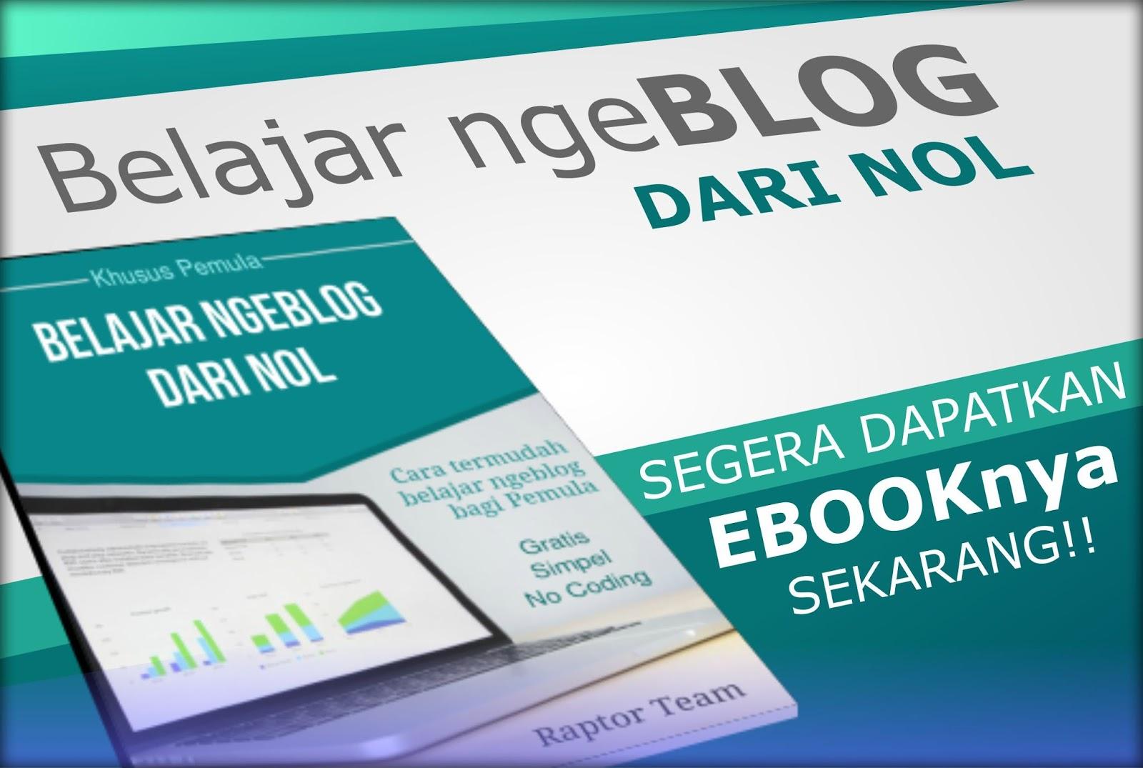 Belajar Ngeblog dari NOL - eBook Panduan Lengkap Belajar Membuat Blog