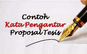 Contoh Kata Pengantar Proposal Tesis