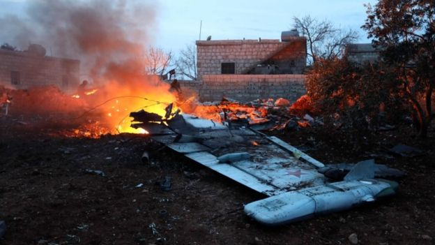 Russian plane crash kills 32 people in Syria