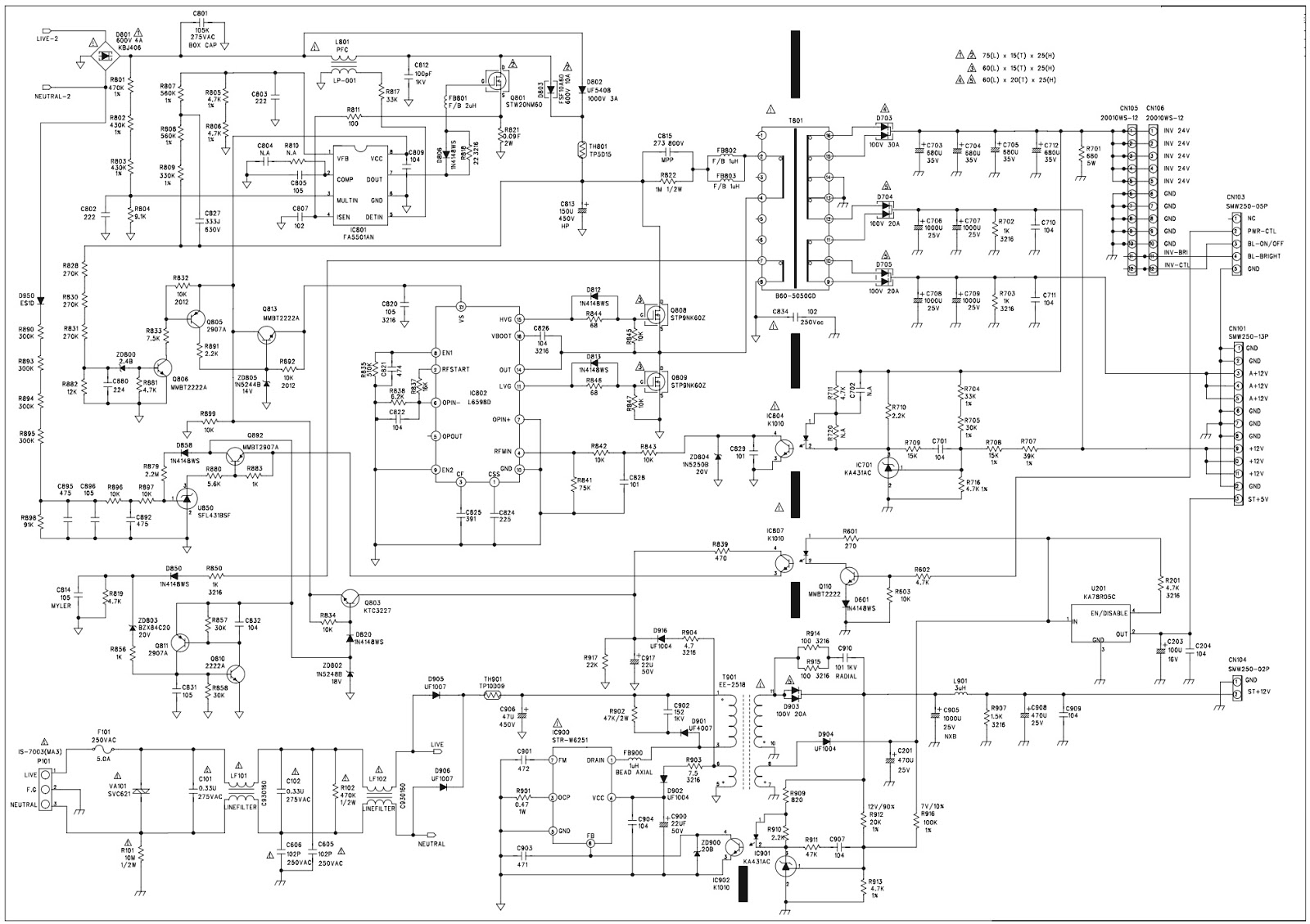 lcd tv schematic diagrams wiring diagram toolbox lg television schematic diagram lg 26h1dc1 lcd tv smps [ 1600 x 1129 Pixel ]