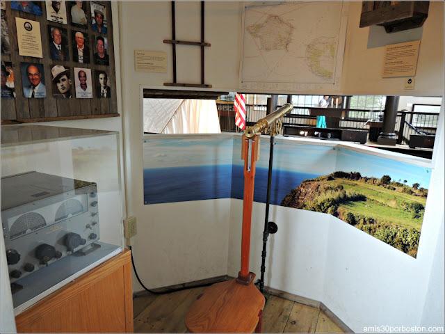 Torre Vigilancia en el Azorean Whaleman Gallery del Museo de las Ballenas de New Bedford