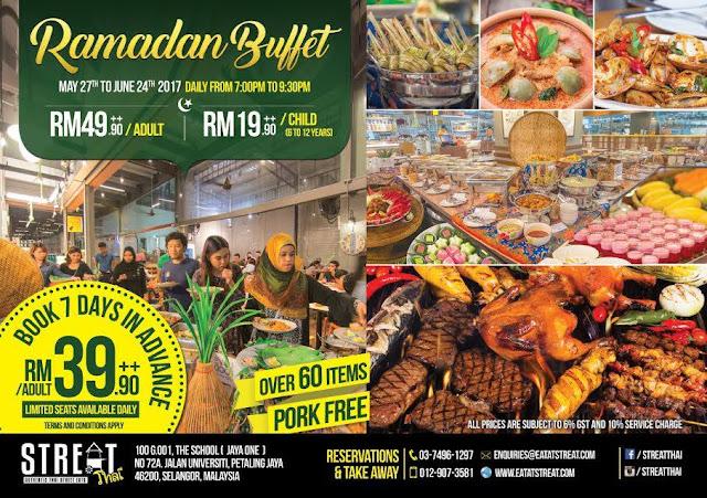 Harga Buffet Ramadhan 2017 Streat Thai