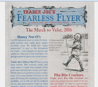 Here is what Trader Joe's Fearless Flyer looks like - March to Value Edition (2016)