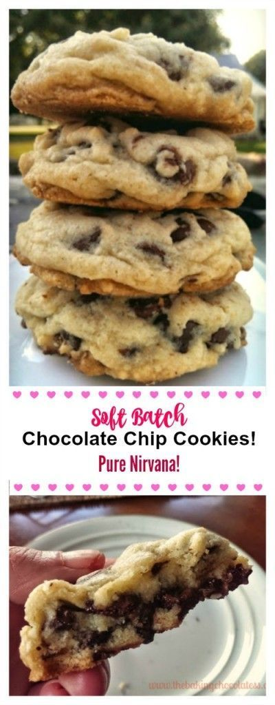 Soft Batch Chocolate Chip Cookies! Pure Nirvana! #soft #batch #chocolate #chips #chocolatechip #cookies #cookierecipes #pure #nirvana #cake #cakerecipes #dessert #dessertrecipes