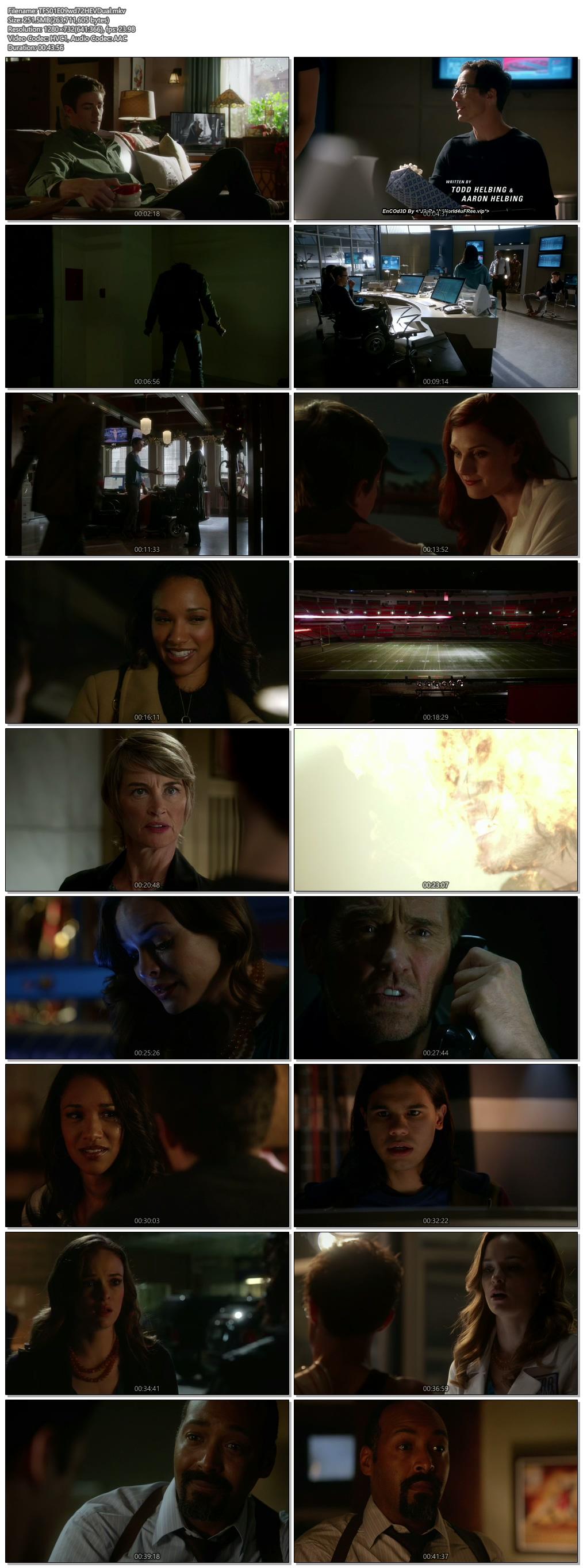 Screenshots Of Hindi Dubbed Show The Flash 2015 Season 01 Episode 09 300MB 720P HD