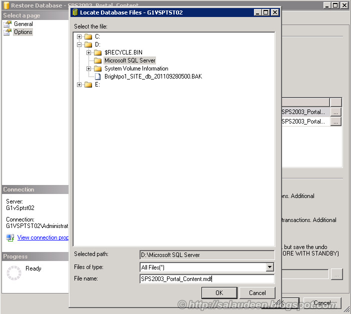 sharepoint 2003 to moss 2007 upgrade database migration