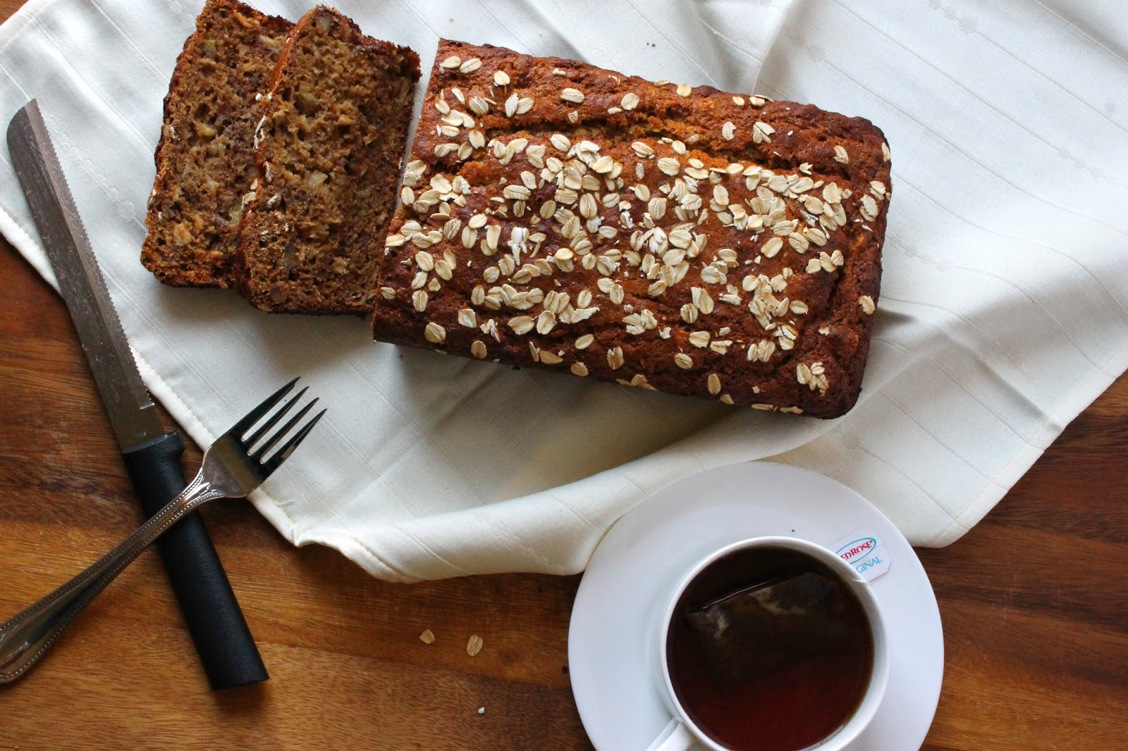 Whole wheat flax banana bread