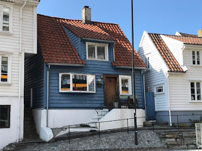 The little blue house in old Stavanger