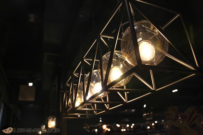 Cozy lights in Sup? Chow restaurant - Makati City
