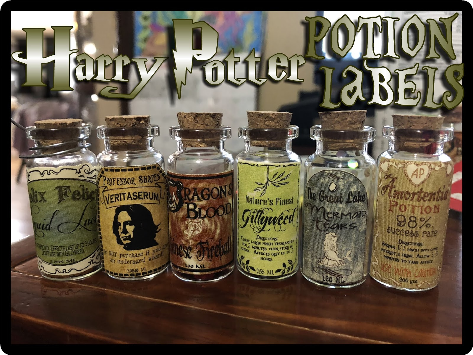 Hollyshome Family Life Harry Potter Potion Labels Free