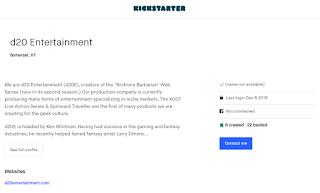 "2018.12.06 Ken ""Whit"" Whitman's Last Kickstarter Login"