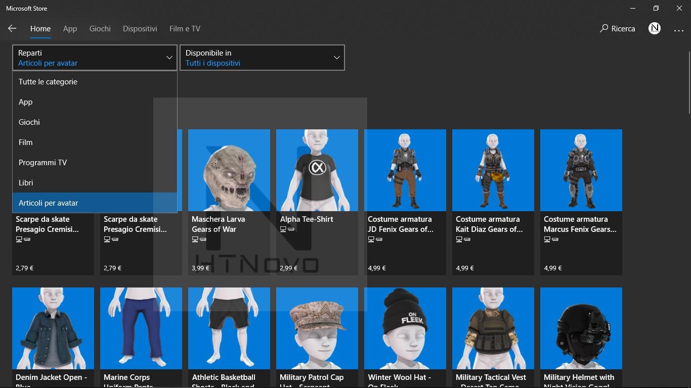 Articoli-per-avatar-Microsoft-Store
