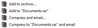 Pilihan Format RAR atau ZIP