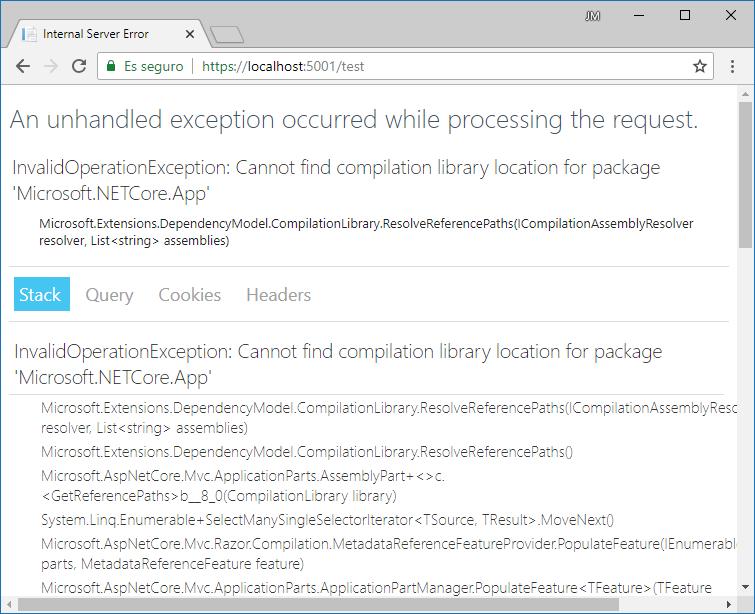 Error de compilación al modificar una vista en tiempo de ejecución