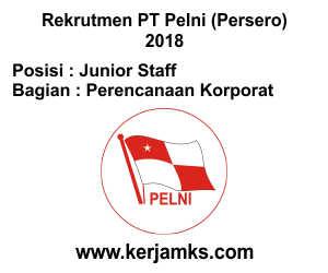 Lowongan Kerja Perencanaan Korporat - Junior Staff PT PELNI (Persero)