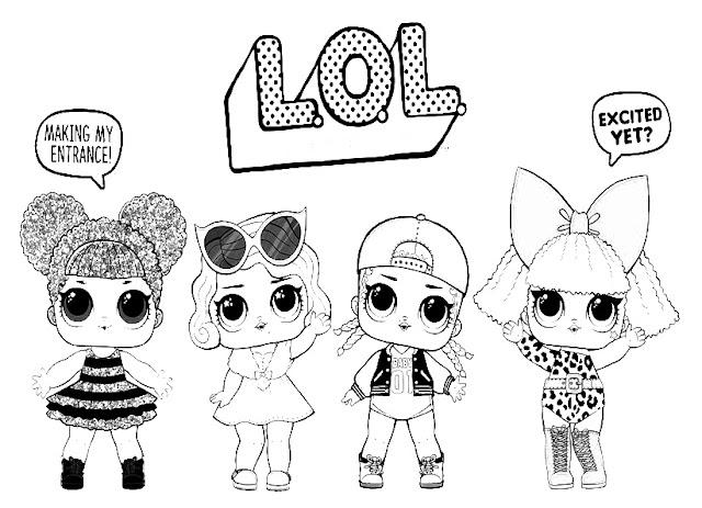 Gambar mewarnai LOL Surprise | Printable coloring pages