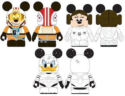 Disney Vinylmation Star Wars Open Edition Teaser Images - Mickey Mouse as an X-Wing Pilot, Minnie Mouse as Princess Leia & Donald Duck as a Stormtrooper