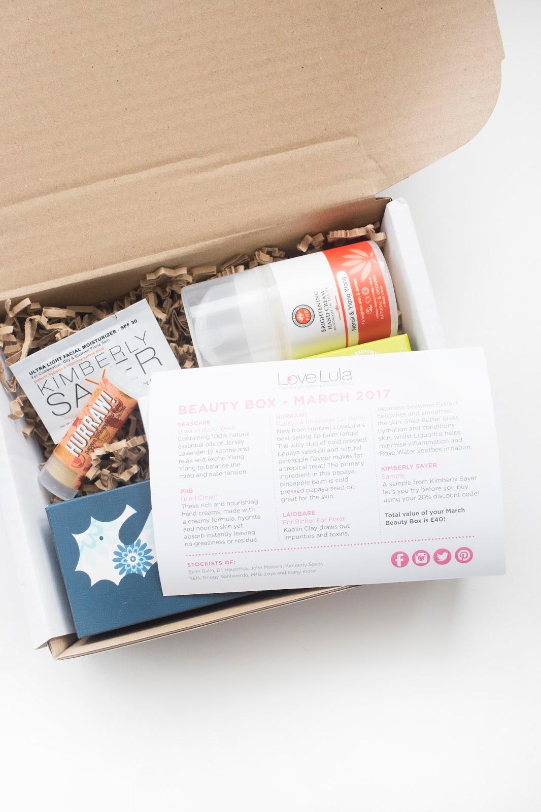 Lovelula Beauty Box | March