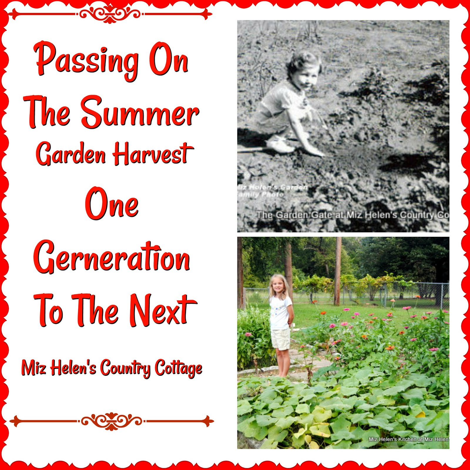 Passing On The Summer Garden One Generation To The Next
