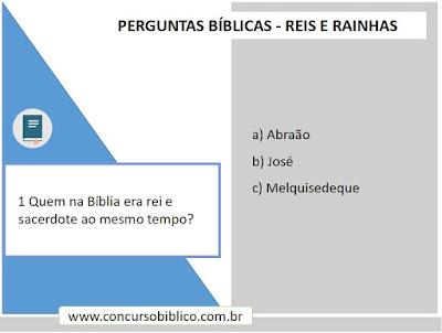 Perguntas Bíblicas reis e rainhas