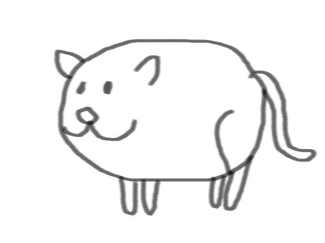 Drawing Funny Cat With Basic Shape Potato