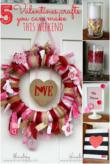 Check out these 5 easy Valentines craft ideas.