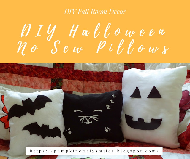 DIY Halloween No Sew Pillows