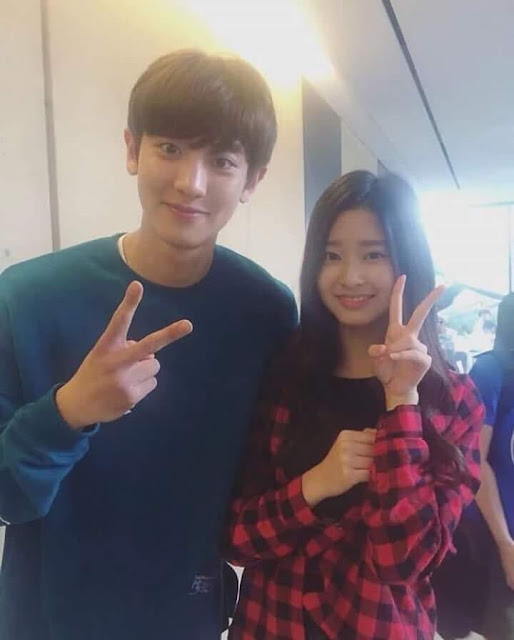 Iz One Minju S Photo With Exo Chanyeol Revealed Daily K