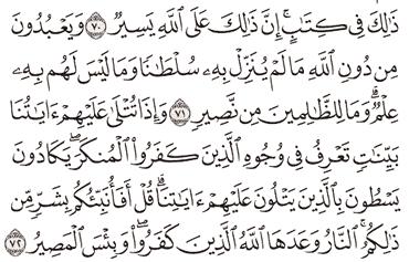 Tafsir Surat Al-Hajj Ayat 71, 72, 73, 74, 75