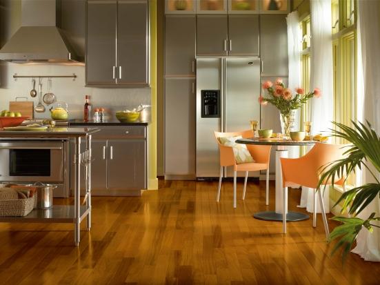 Lựa chọn sàn gỗ công nghiệp cho phòng bếp