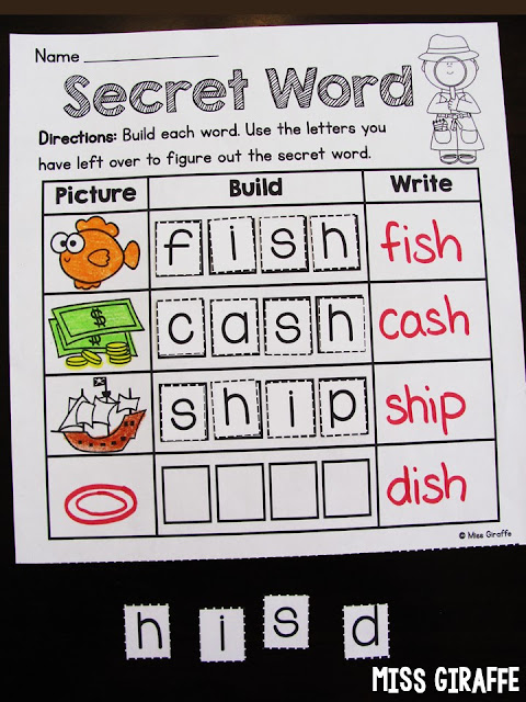 Secret Word and so many other fun digraphs worksheets and digraphs activities that make reading fun