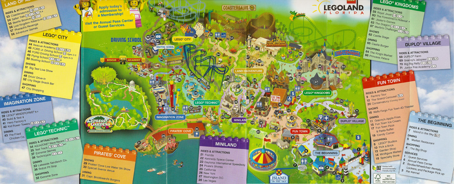 Legoland Florida Map.First Look At Legoland Florida S Park Map Hospitality And Travel News
