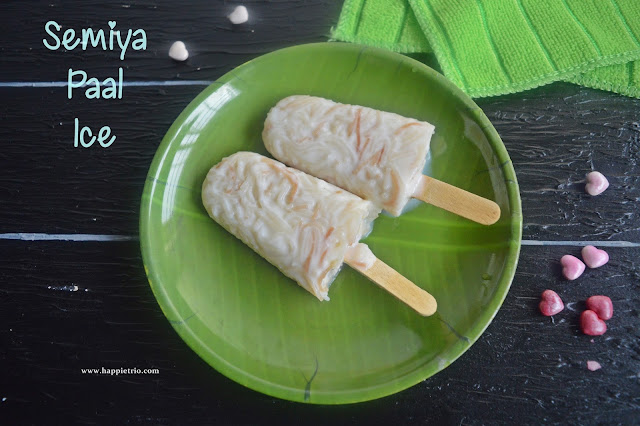 Semiya Paal Ice Recipe | Vermicelli Milk Popsicles