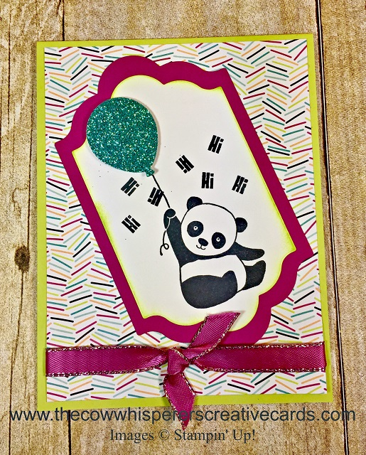 Card, Party Pandas, Glimmer, Picture Perfect Party