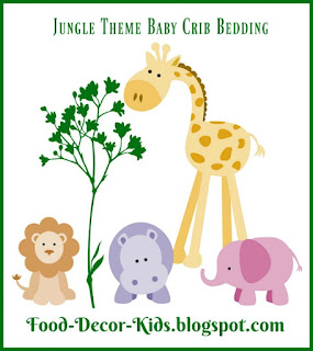 Food, Decor, Kids: Jungle Theme Baby Bedding Sets