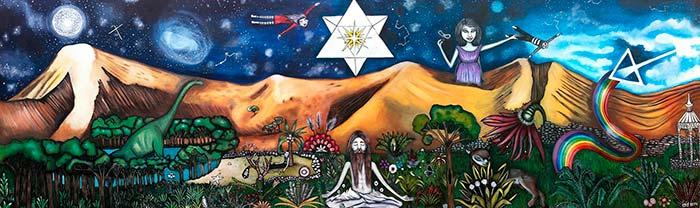 Pintura, Ventana al infinito de Isidora Edurne Celis Urrizola aka Tierra de Isis