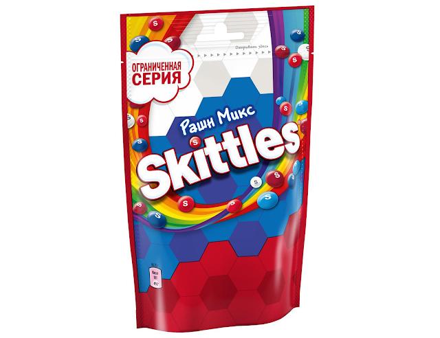 Новый Skittles «Рашн Микс», Новый Skittles «Russian Mix» состав цена стоимость пищевая ценность Россия 2018