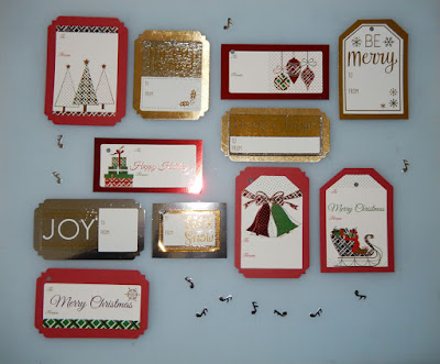 Quick gift tags from scraps - by Grace Baxter
